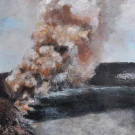 Explosion. Oil on board. 130 x 60 x 5. 2012