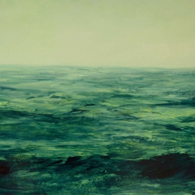 Horizon. Oil on board 72 x 122 x 5cm 2015