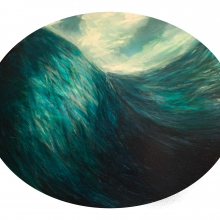 Porthhole-sidescuttle. Oil on board. 30 x 50 cm. 2016