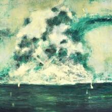 Explosion in the sea. Oil on board. 130 x 100 cm. 2013