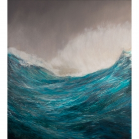 Sea. Oil on board. 72 x 122 x 5cm. 2015