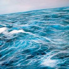 Water storm. Oil on board. 40 x 60 x 5cm. 2013