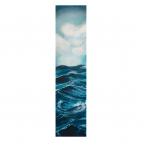 Vertical Sea. Oil on board. 110 x 35 x 5 cm. 2014