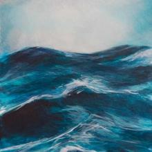 Sea. Oil on board. 110 x 35 x 5 cm. 2014