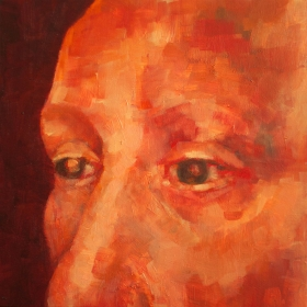 Self Portrait. Oil on canvas. 25 x 25 cm 2015
